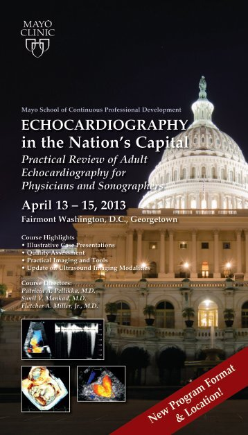 Tri card Echo in Nations Capital Sonog/Physician ... - Mayo Clinic