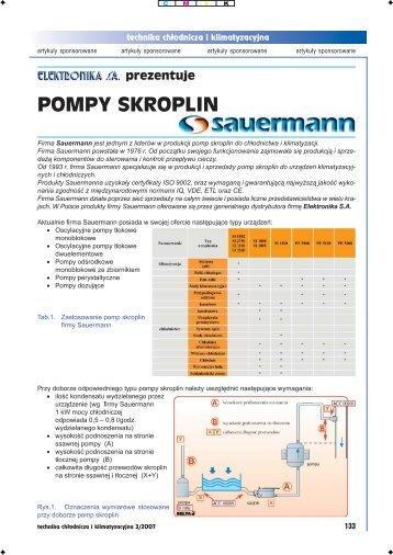 POMPY SKROPLIN - Technika chłodnicza i klimatyzacyjna