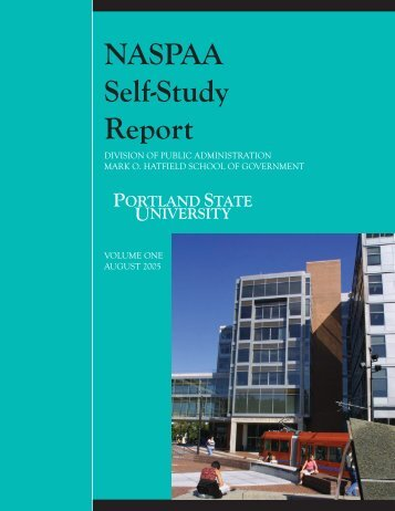 NASPAA Self-Study Report 2005 - Portland State University