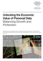 Unlocking the Economic Value of Personal Data Balancing Growth ...