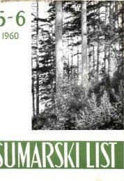 ÅUMARSKI LIST 5-6/1960