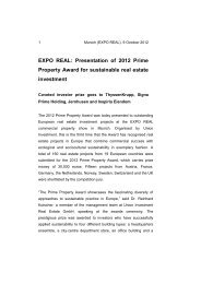EXPO REAL: Presentation of 2012 Prime ... - Union Investment