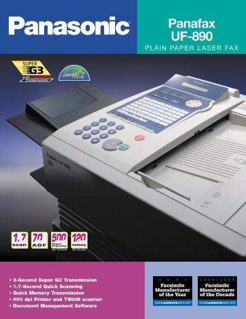 to Download the Panasonic Laser Fax UF-890 ... - Businessneedz