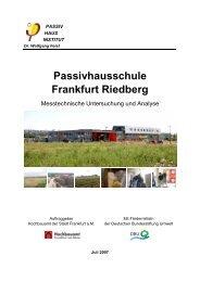 Passivhaus-Schule Frankfurt-Riedberg - Niedrig Energie Institut