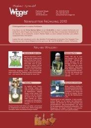 Newsletter Frühling 2010