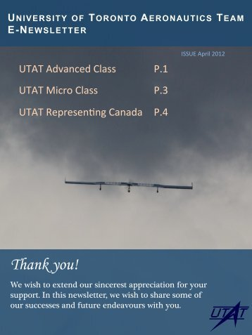 Thank you! - University of Toronto