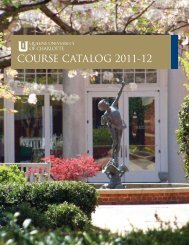 COURSE CATALOG 2011-12 - Queens University of Charlotte
