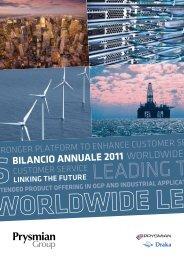 BILANCIO ANNUALE 2011 - Prysmian