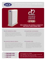 LaCie d2 Hard Drive Extreme with Triple Interface - Goecker