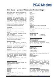 Curacid Deltaguard - sporizider Desinfektionsreiniger