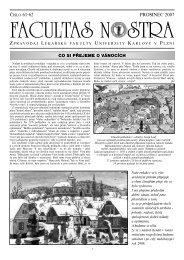Prosinec 2007 / Číslo 61-62 - Lékařská fakulta v Plzni