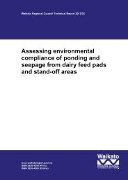 Assessing environmental compliance of ponding and seepage from ...