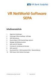 Umstellungsanleitung für VR-NetWorld-Software auf SEPA