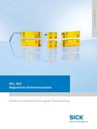 RE1, RE2 – Magnetische Sicherheitsschalter - Mysick.com