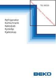 Refrigerator Køleskab Kühlschrank Kjøleskap Kylskåp - Vanden Borre
