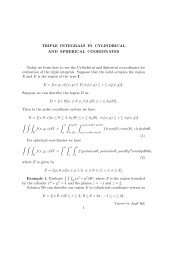 Triple integrals in Cylindrical and Spherical coordinates