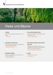 Parks und Bäume - Planungsamt - Kanton Basel-Stadt