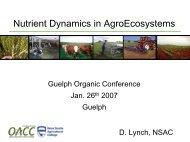 Full Presentation - Centre d'agriculture biologique du Canada