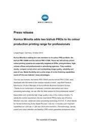 Press release Konica Minolta adds two bizhub PROs to its colour ...
