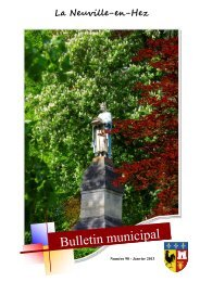 Bulletin Municipal janvier 2013 - La Neuville en Hez