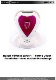 BH2976 Rasoir Féminin Sans Fil - Forme Coeur ... - BOB HOME