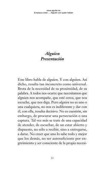 928782 Alguien con quien hablar - Aguilar