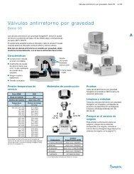 Válvulas Antirretorno por Gravedad: Serie 50 (MS-01-98 ... - Swagelok