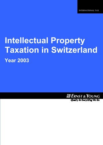 Intellectual property taxation in Switzerland