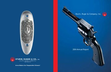 Sturm, Ruger & Company, Inc. 2004 Annual Report