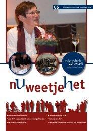• Nieuwjaarstoespraak rector • Associatieoverschrijdende ... - UHasselt