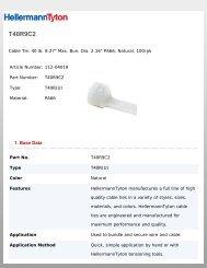 Hellermann Tyton 553-50176 Heat Shrink Labels.187 Pack of 10000