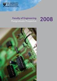 Faculty of Engineering Postgraduate Prospectus - Department of ...