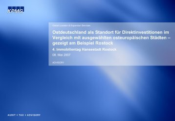 Ostdeutschland als Standort für ... - Rostock Business