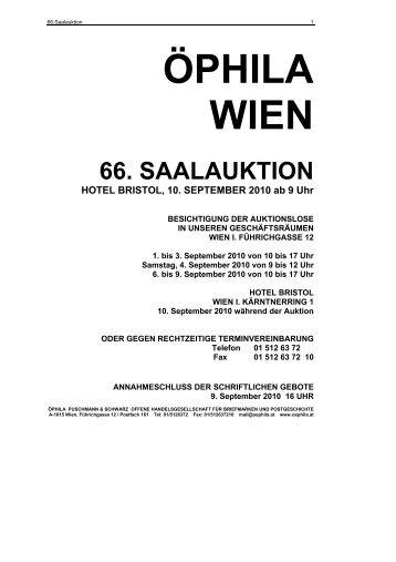 66. saalauktion - Öphila Wien
