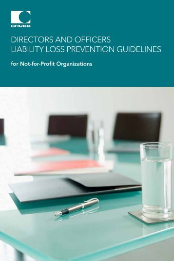 DIRECTORS AND OFFICERS LIABILITY LOSS PREvENTION ...