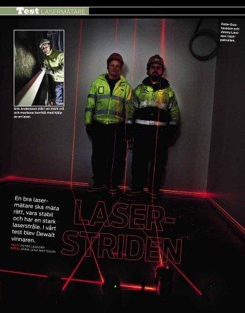 Lasermätare: Dewalt vinner laserstriden (PDF 664 kB)