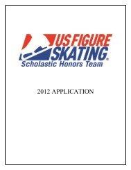 2012 Scholastic Honors Team application - US Figure Skating