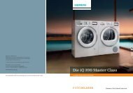 Die iQ 890 Master Class - Siemens Home Appliances