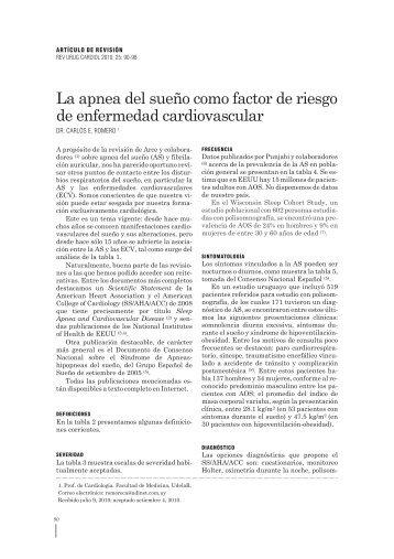 La apnea del sueño como factor de riesgo - Sociedad Uruguaya de ...