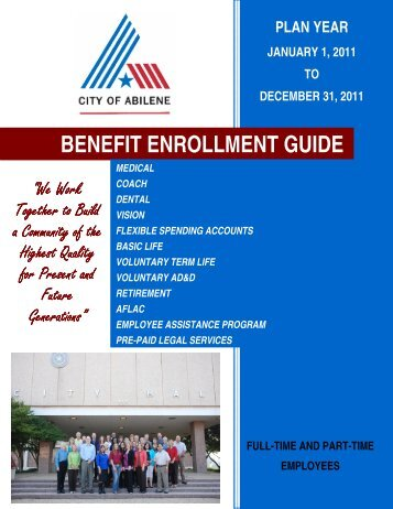 BENEFIT ENROLLMENT GUIDE - City of Abilene, Texas