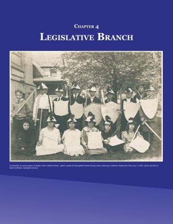 Chapter 4 - Legislative Branch - Secretary of State