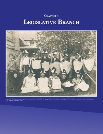 Chapter 4 - Legislative Branch - Secretary of State