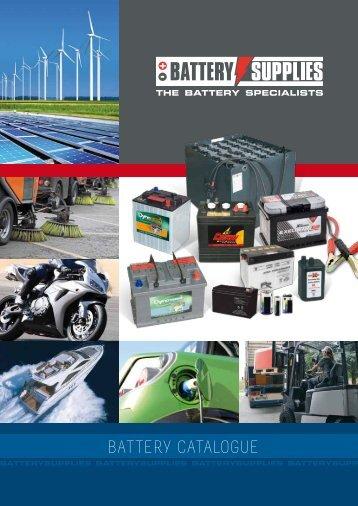 battery catalogue - Solar batteries