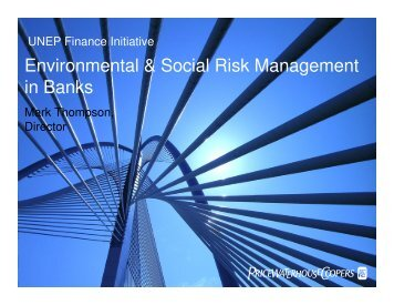 Environmental & Social Risk Management in Banks - UNEP Finance ...