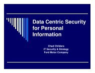 Data Centric Security for Personal Information - SecureWorld