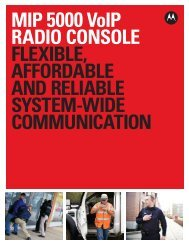 MIP 5000 VoIP Radio Console - Motorola Solutions