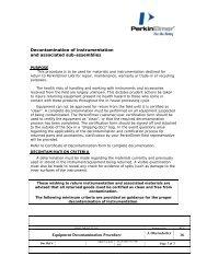 Procedure for Decontamination for Maintenance ... - PerkinElmer
