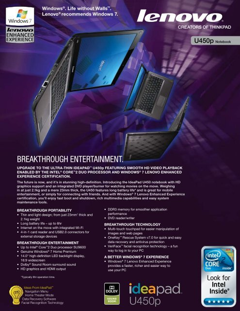 IdeaPad U450p - News - Lenovo