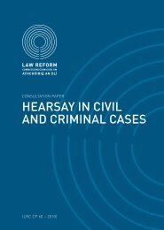 hearsay in civil and criminal cases - Law Reform Commission