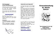 Infoflyer zur Firmvorbereitung 2013 - Katholische Pfarrgemeinde St ...